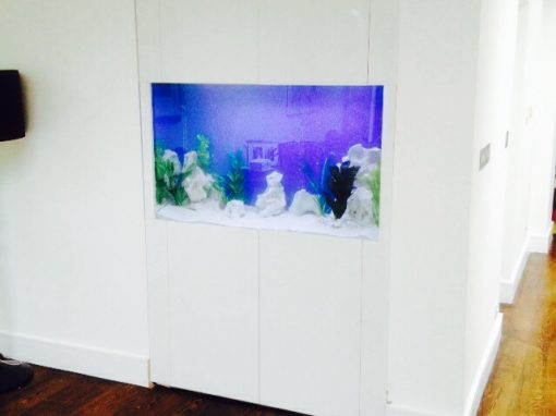 Living Room Aquarium in Alcove [38]
