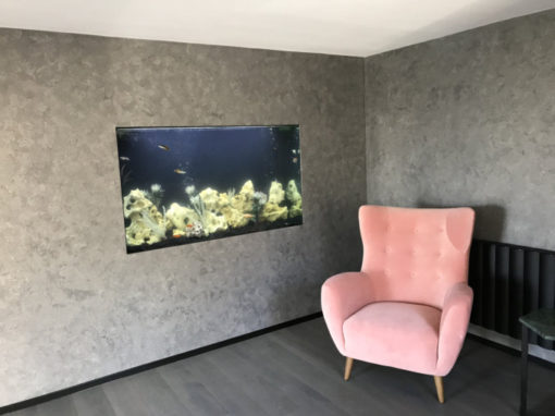 In Wall Aquarium with Black Back (45)